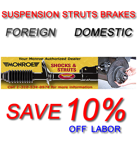 Honda Acura Strut Suspension Brakes Replacement Torrance